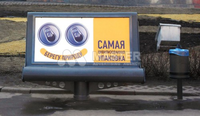 Реклама на скамейках