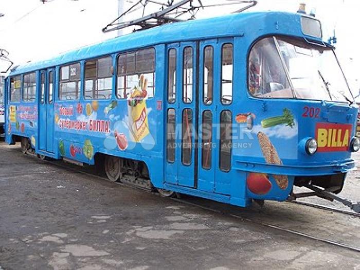 Реклама на трамваях и троллейбусах