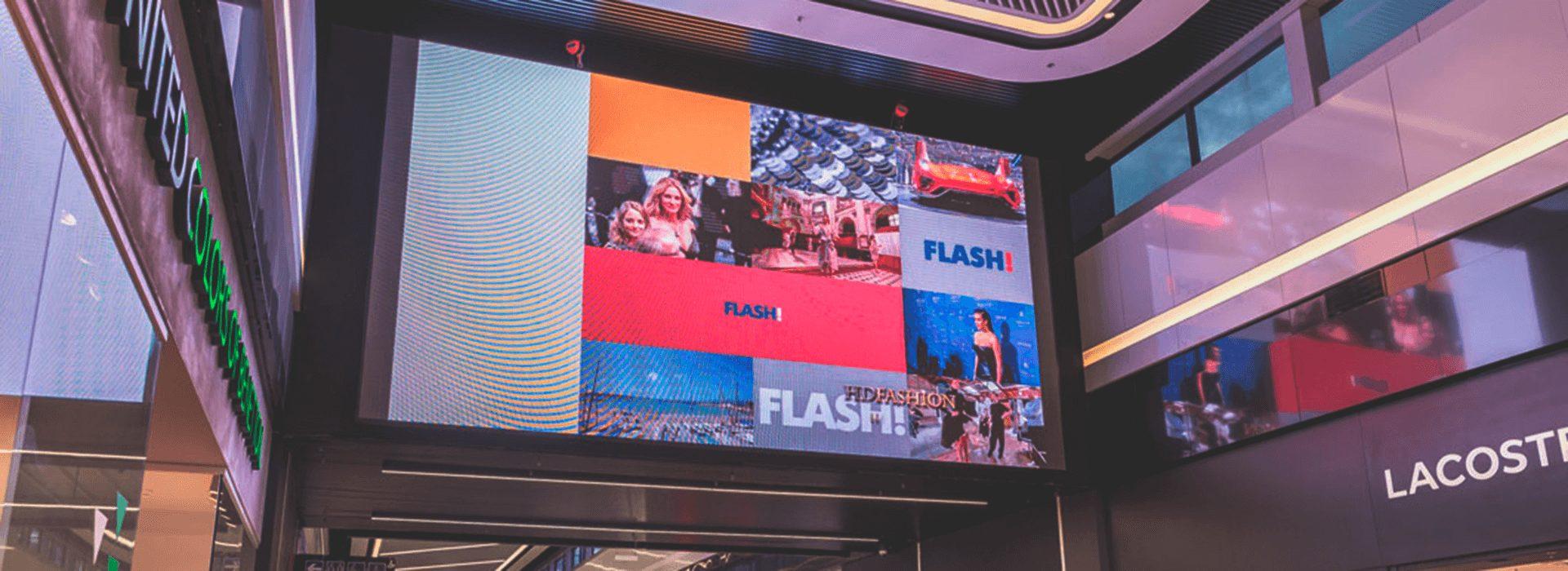 Размещение рекламы в бизнесцентрах на видеоэкранах